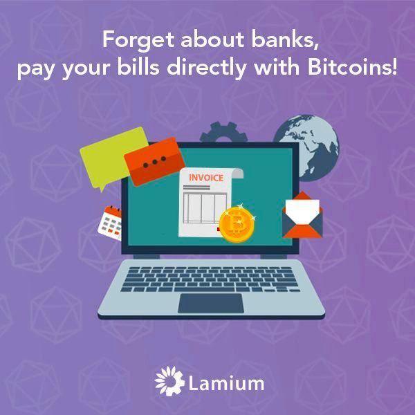 Lamium - Rechnung in Bitcoin bezahlen