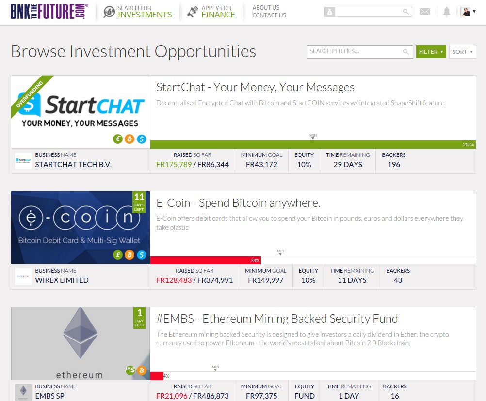 BNK to the future: Investement e-coin