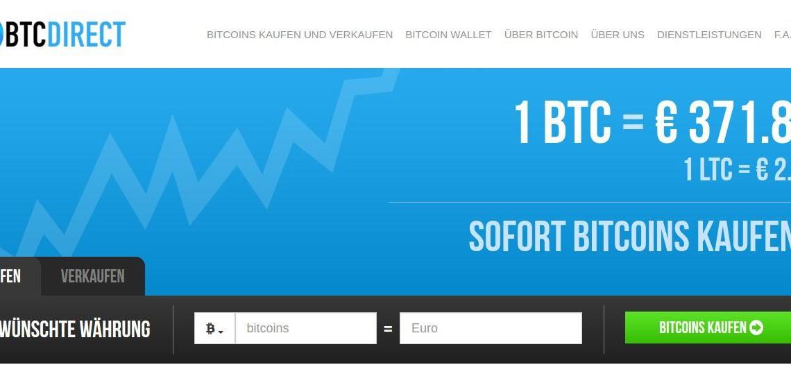 Bitcoin kaufen bei BTCDirect - eine Anleitung