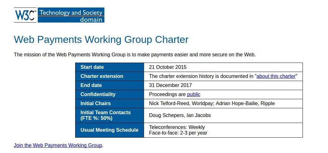 Web Payments Working Group Charter