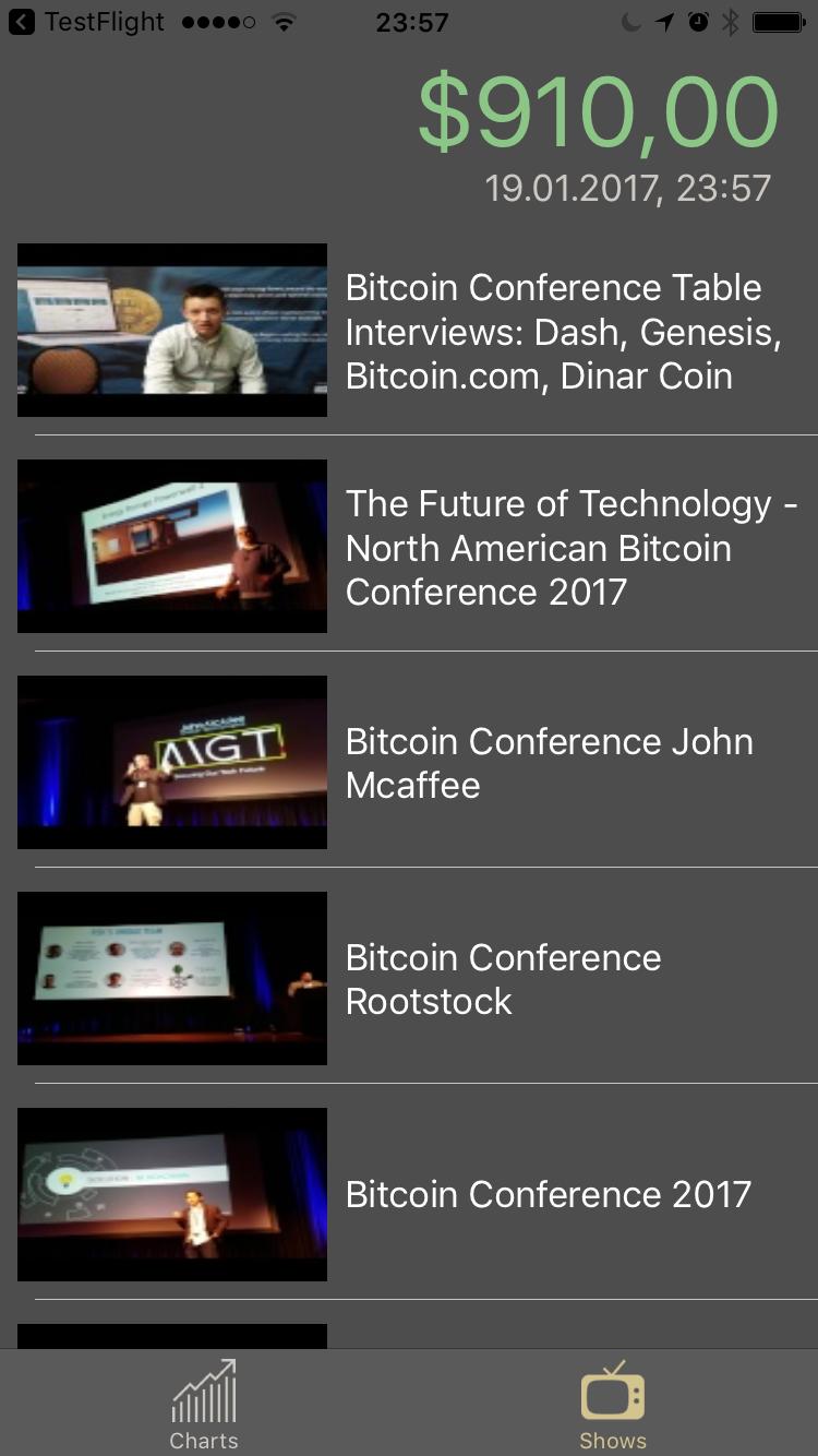 App-Release: Bitcoin Monitor (v2) - tvOS und iOS
