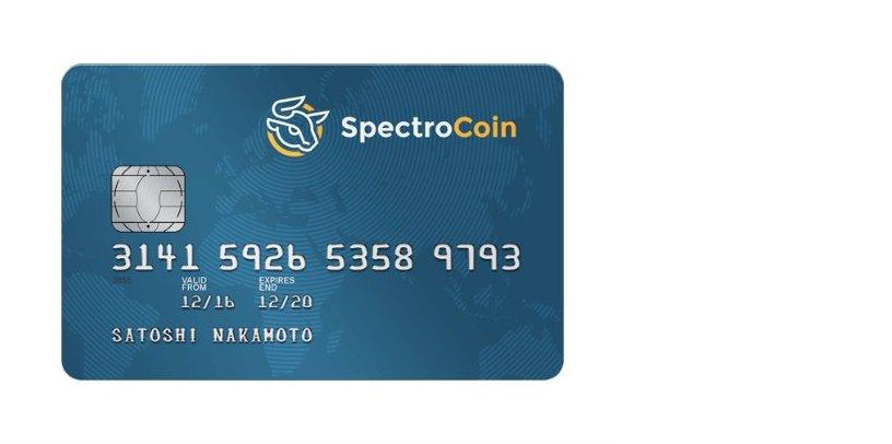 Spectrocoin Bitcoin Debitcard