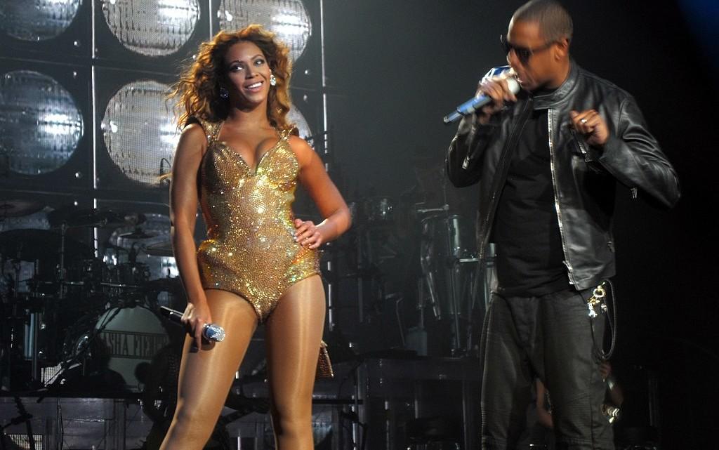 Jay Z mit seiner Frau Beyoncé.