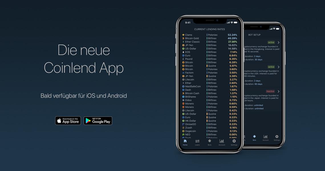 coinlend margin trading app