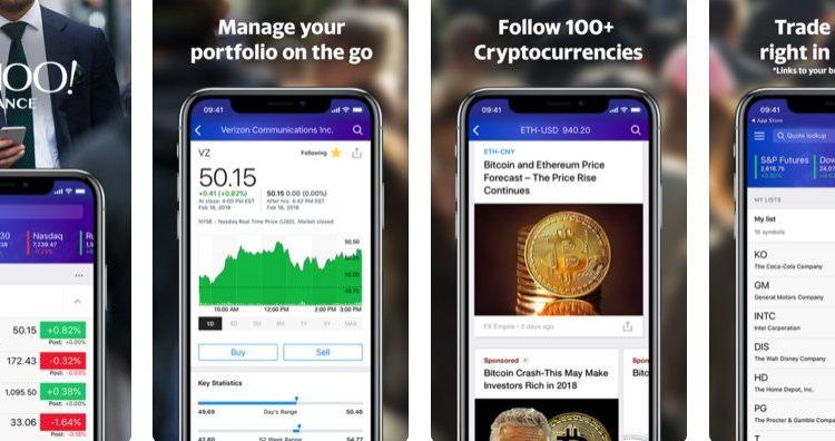 Bitcoin Kaufen via Yahoo Finance Screenshot aus der iOS App