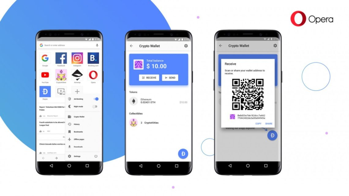 RECENT NEWS Opera launches first Web 3-ready browser for Android