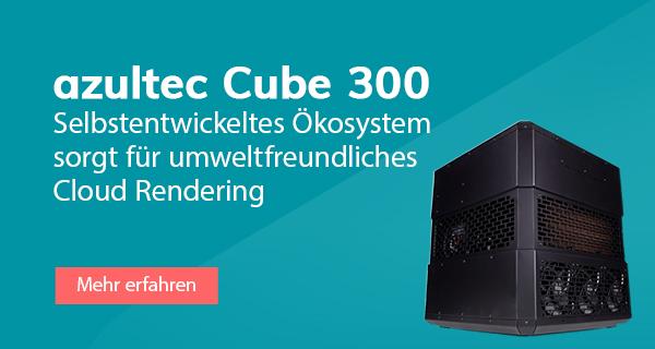 azultec Cube 300: Einzigartige, wassergekühlte Render-Workstation mit Rekuperation