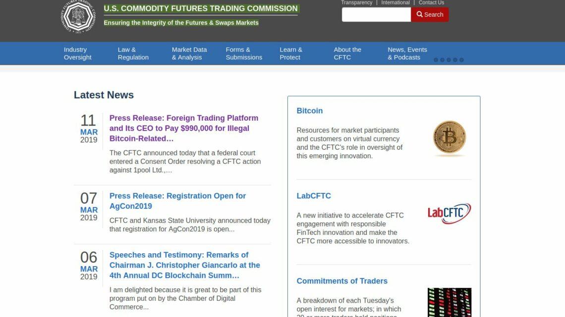 1pool Ltd. betrieb laut CFTC unerlaubten Bitcoin Handel mit US-Kunden