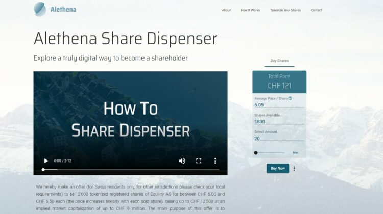 Alethena Share Dispenser