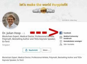 LinkedIn-Profil von Dr. Julian Hosp