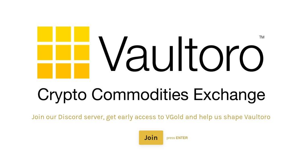 Vaultoro Crypto Commodities Exchange