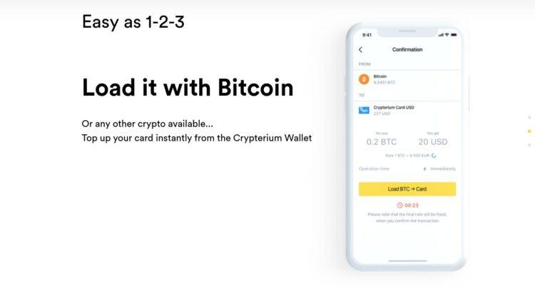 Crypterium Debitkarte: Mit Bitcoin bezahlen. Weltweit.