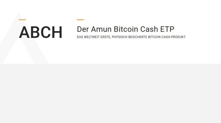 Amun Bitcoin Cash ETP
