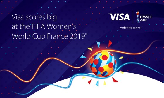 Kontaktloses Bezahlen mit Visa punktet bei der FIFA Frauen-Weltmeisterschaft Frankreich 2019