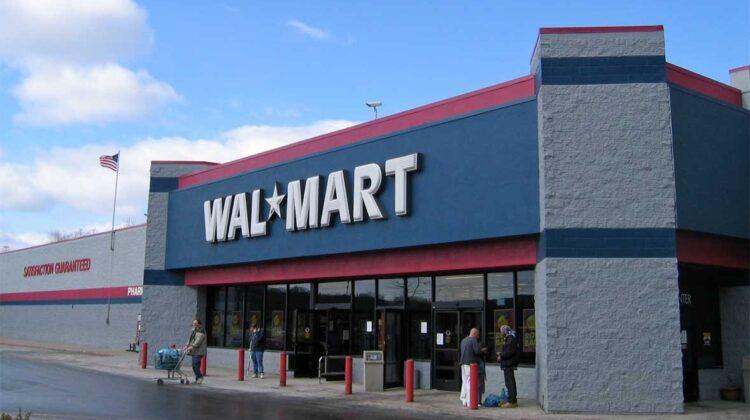 Eingangsbereich eines Walmarts in den USA