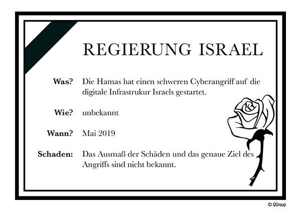 Während der Ausstrahlung des Eurovision Song Contest in Israel hackt die Hamas den Webauftritt des übertragenden Senders KAN.