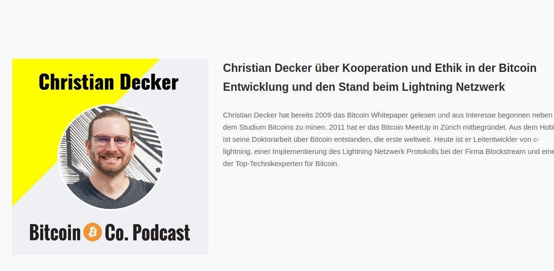 Christian Decker über Kooperation und Ethik in der Bitcoin Entwicklung und den Stand beim Lightning Netzwerk