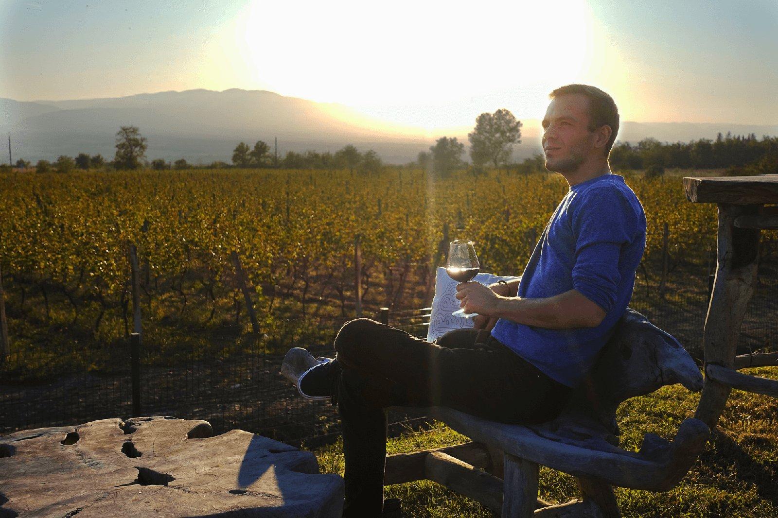 Bild: Sergio in Georgiens Weinregion Kakheti