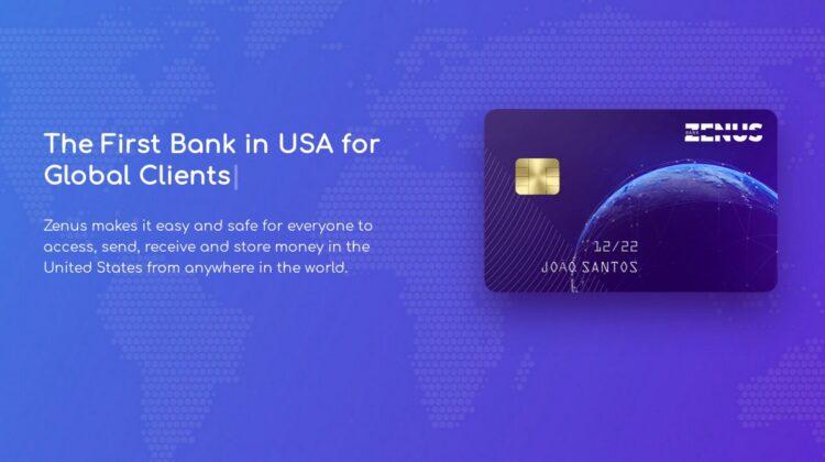 """Zenus Bank: Ein internationales Bankkonto """"made in usa"""" für alle. Wer interessiert ist, kann sich auf eine Warteliste eintragen lassen."""