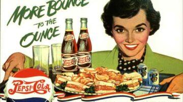 """PEPSI: Pan European Payment System Initiative Foto: Pepsi Retro-Werbung mit einem der bekanntesten Werbeslogan überhaupt: """"Bounce to the Ounce"""""""